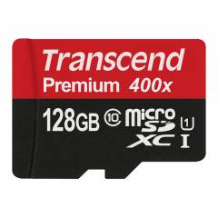 128GB Transcend Premium 400X - microSDXC Speicherkarte